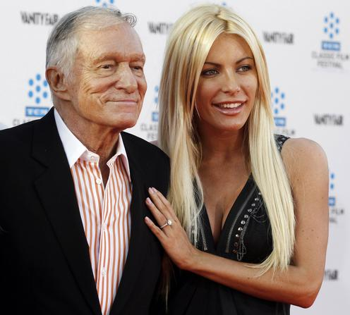 File photo of Hugh Hefner and his fiancee at the opening night gala of the 2011 TCM Classic Film Festival  in Hollywood