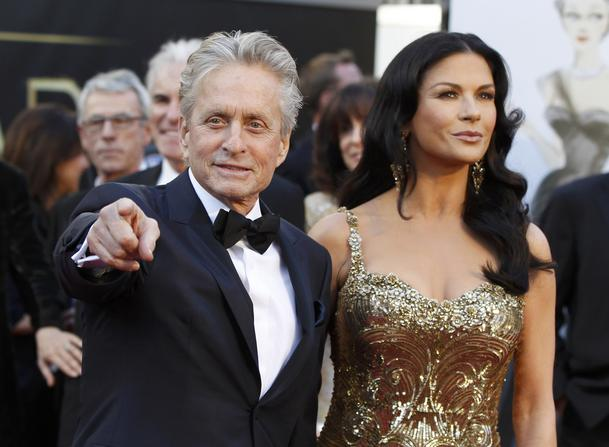Catherine Zeta Jones and Michael Douglas arrive at the 85th Academy Awards in Hollywood